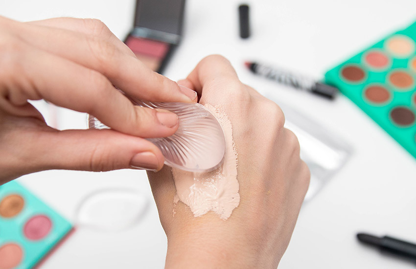 Esponja de silicone para maquiagem
